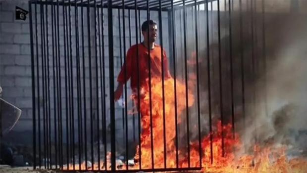 Piloto jordaniano queimado por terroristas do Estado Islâmico
