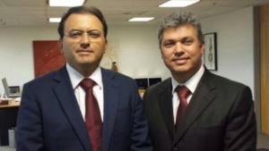 Márcio Cunha (à direita) e o presidente da OAB nacional,  Marcus Coelho | Foto: Divulgação
