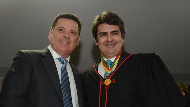 Governador Marconi Perillo durante posse do procurador-geral de Justiça, Lauro Machado Nogueira | Foto: reprodução / Facebook Marconi Perillo
