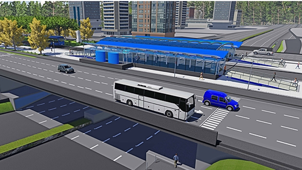 Maquete do BRT em Palmas | Foto: divulgação