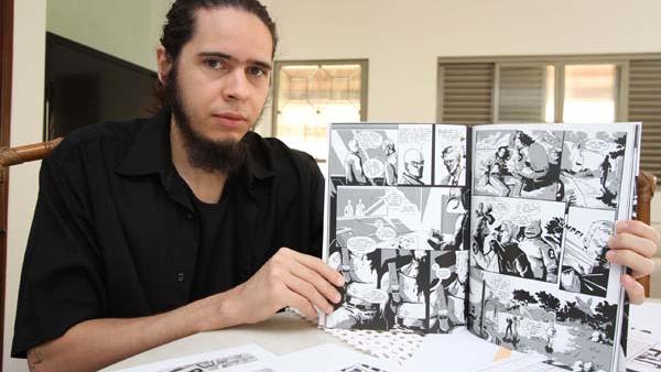 """No romance gráfico """"O.R.L.A."""", a posição filosófica, artística e ideológica de Matheus Moura é inegociável / Cleiton Borges"""