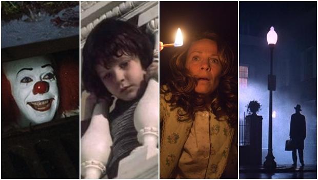 Cenas dos filmes A Coisa, A Profecia, Invocação do Mal e O Exorcista: muito, mas muito medo | Fotos: reprodução