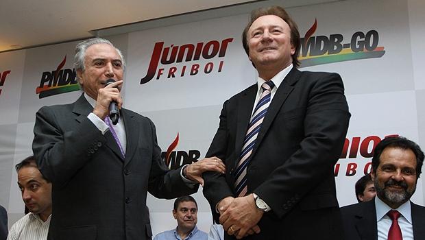 Michel Temer sugere que não se deve expulsar Friboi e que o PMDB goiano precisa eleger mais deputados