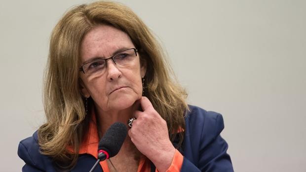 Graça Foster compareceu pela quinta vez à CPI da Petrobras | Foto:  Marcelo Camargo/Agência Brasil