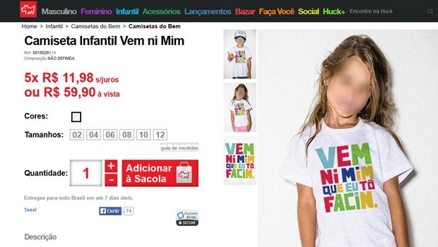 Marca de camisetas de Luciano Huck é acusada de incitar a pedofilia em estampa polêmica
