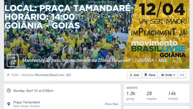 Segunda manifestação contra governo e corrupção tem data marcada em Goiânia