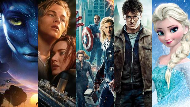 Os dez filmes com as maiores bilheterias da história