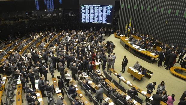Sessão da Câmara dos Deputados que aprovou o PL 4330 sobre terceirização | Foto: José Paulo Lacerda