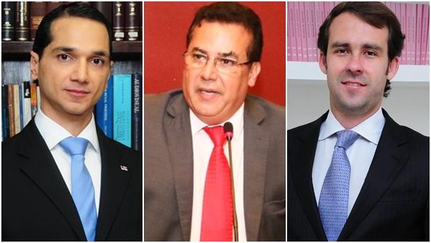 Os presidenciáveis Pedro Paulo de Medeiros, Enil Henrique e Lúcio Flávio | Fotos: Facebook e Fernando Leite / Jornal Opção