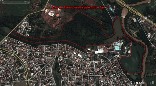 Área do Estado que é usada pelo Clube Jaó há quase 40 anos