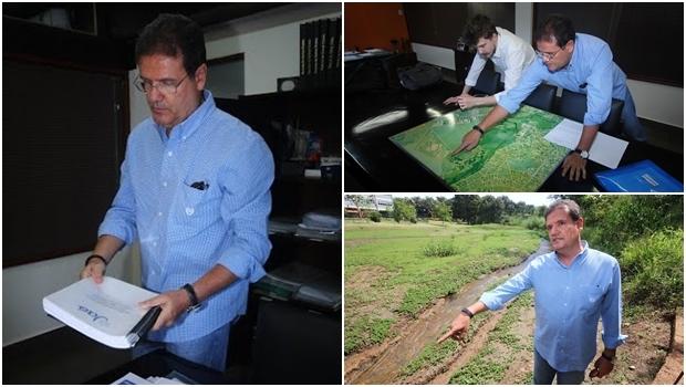 Berocan apresentou ao Jornal Opção os mapas e a área do Estado   Fotos: Fernando Leite / Jornal Opção