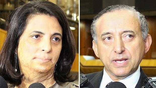 Dra. Cristina e Anselmo, presidente da Casa | Fotos: Eduardo Nogueira/Câmara de Goiânia