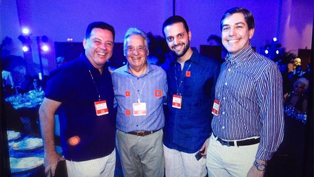 Em congresso, governador Marconi Perillo se encontra com ex-presidente FHC