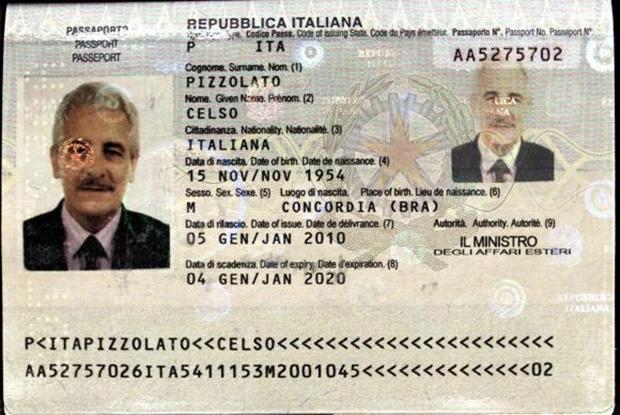 Pizzolato foi para a Itália usando documentação falsa | Foto: Divulgação/Interpol