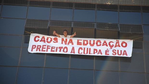Paralisação na Educação pode se espalhar para virar greve geral.  Se isso ocorrer, Prefeitura terá problemas mais sérios que os atuais | Foto: Fernando leite/Jornal Opção