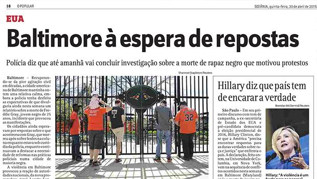 """O Popular faz nova reforma ortográfica e cria o neologismo """"repostas"""". Numa manchete"""