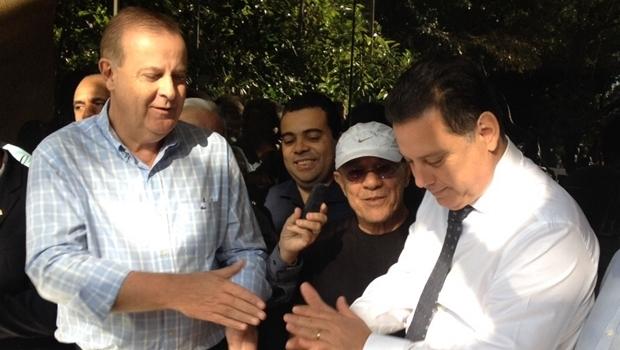 Governador Marconi Perillo e prefeito Paulo Garcia: corredor cultural em Goiânia / Foto: Carolina Oliveira