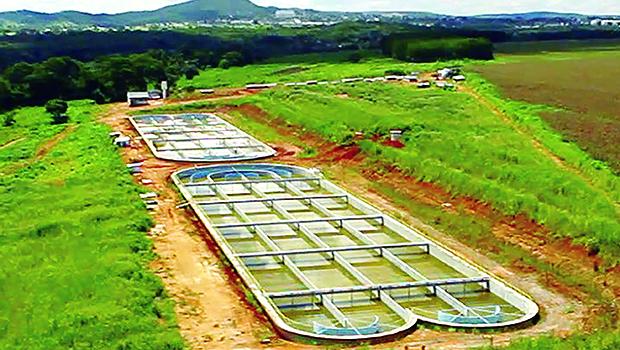 Estação de Tratamento de Esgoto (ETE) custou R$ 25 milhões | Foto: Prefeitura de Senador Canedo