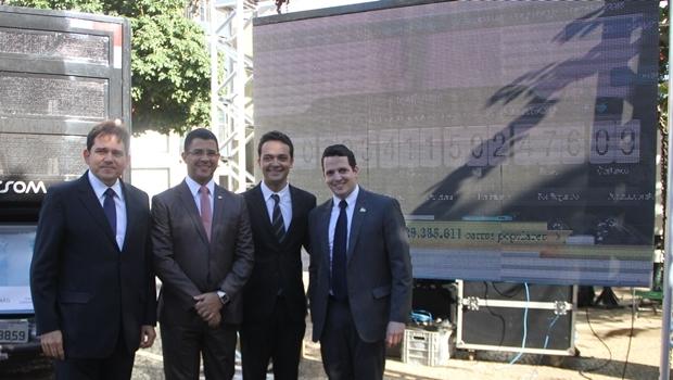 Os presidentes Marcelo Baiocchi e Leopoldo Veiga Jardim (nas pontas) | Foto: Solimar