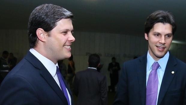 O presidente da Juceg, Rafael Lousa, e o deputado federal Daniel Vilela em encontro na Câmara Federal | Foto: Fernando Leite / Jornal  Opção