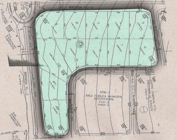 Mapa onde condomínio está sendo construído, no Setor Park Lozandes | Foto: Reprodução/Diário Oficial do Município