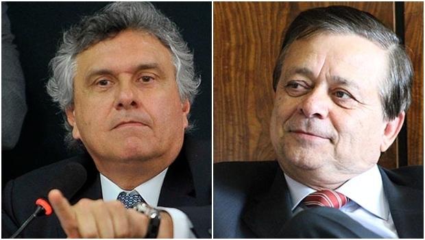 Jovair Arantes (direita) e Ronaldo Caiado: líderes de seus partidos no Congresso na luta contra a fusão que quer uni-los sob uma só legenda | Fotos: Site Jovair Arantes; Renato Araújo/ABr