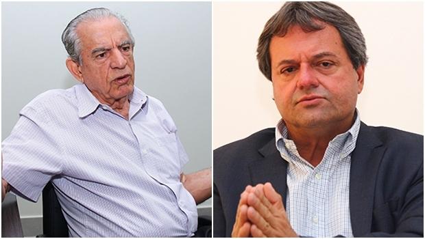 Iris Rezende (esquerda): referencial peemedebista, mas depende do aliado Paulo Garcia Jayme Rincón: bom de briga