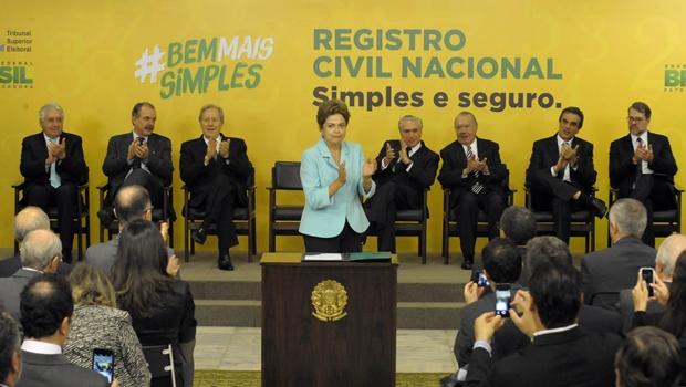 Dilma envia ao Congresso projeto do Registro Civil Nacional