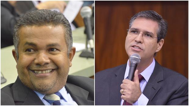 Ex-vereadores Santana Gomes (PSL) e Francisco Jr. (PSD): visitas frequentes à Câmara   Fotos: Marcos Kennedy / Alego