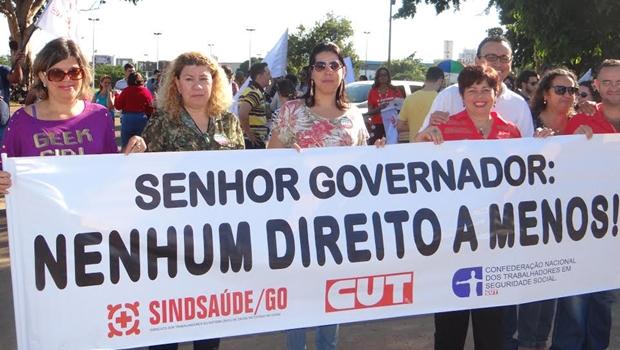 Sindsaúde promove manifestação contra medidas econômicas do Estado
