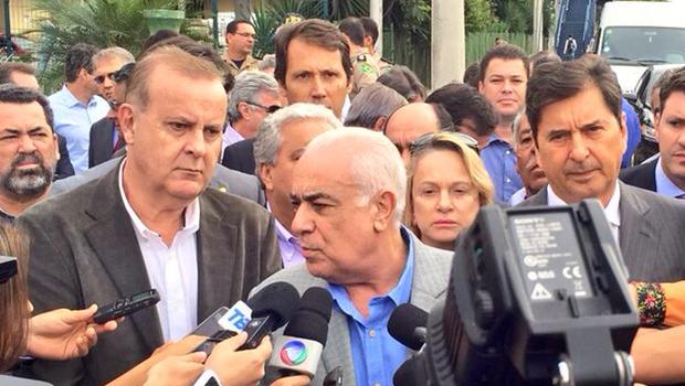 Ministro dos Transportes concede coletiva após visita | Foto: Prefeitura de Goiânia