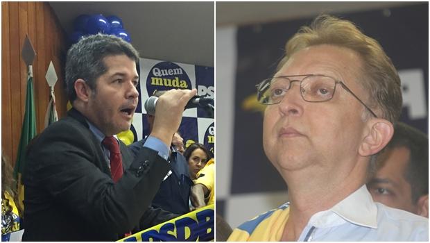 """Insatisfeitos, Delegado Waldir e João Campos """"dão recado"""" em evento tucano"""