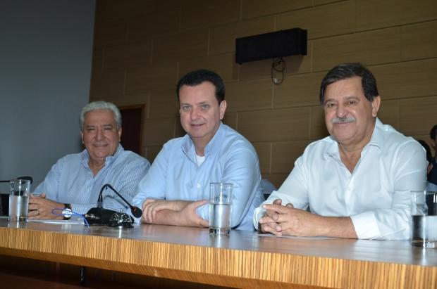 Vilmar Rocha, Gilberto Kassab e prefeito Juraci Martins | Foto: PSD Goiás