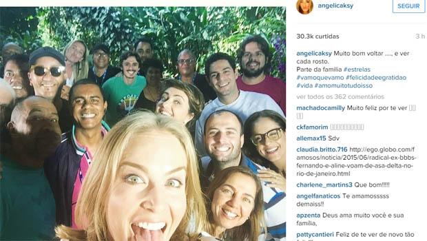 """Angélica volta a gravar """"Estrelas"""" após acidente de avião"""