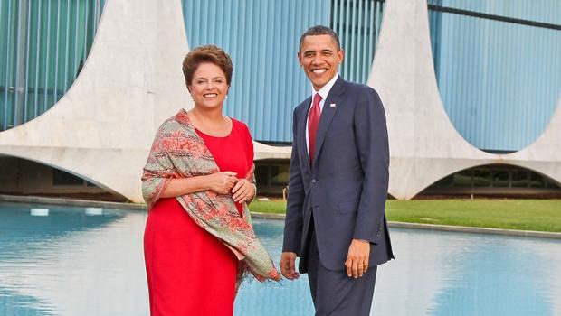 Dilma e Obama em Brasília. Presidente brasileira vai aos EUA   Foto: Presidência da República