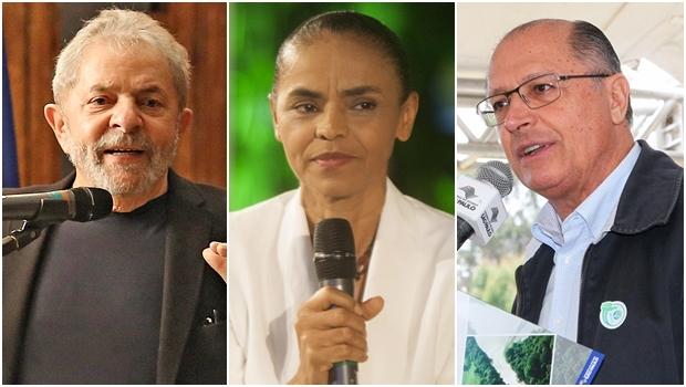 Lula lideraria no cenário contra Marina Silva e Alckmin | Fotos: PT / PSB / Governo de São Paulo