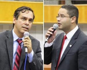 Vereador Welington Peixoto (à esquerda) e Rodrigo Melo, que vai ocupar o Procon