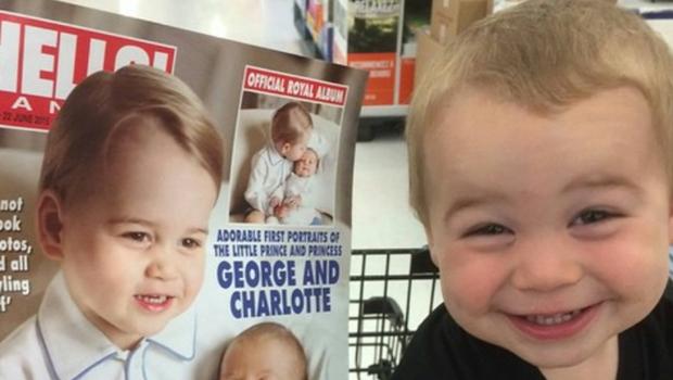 "Bebê fica famoso na internet por ser ""sósia"" do príncipe Geoge"