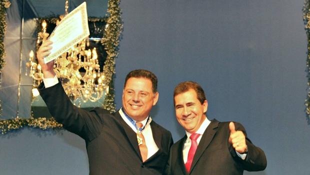 O governador Marconi Perillo e o prefeito de Anápolis, João Gomes | Foto: Reprodução/Facebook