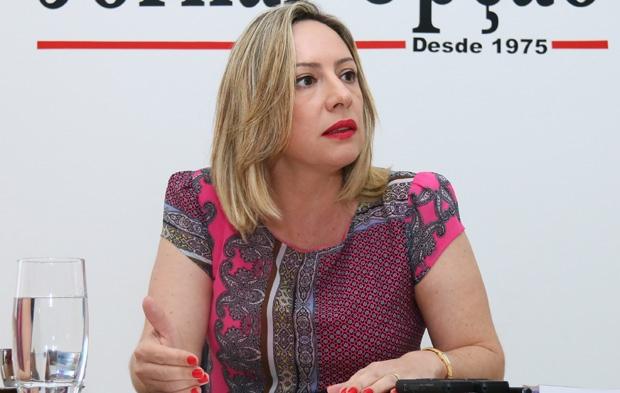 FOTO: Adriana Accorsi Legenda - Adriana Accorsi: deputada pode se mostrar forte candidata em Goiânia   Foto: Fernando Leite/ Jornal Opção