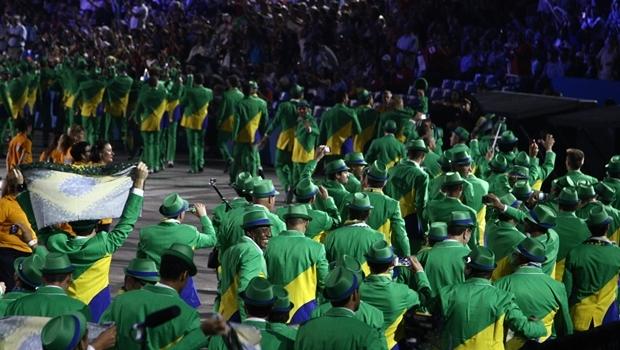 Cerimônia de abertura dos Jogos Panamericanos de 2015, no Canadá   Foto: Roberto Castro/ME