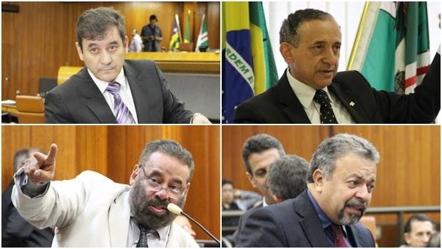 Clécio Alves e Paulo Magalhães (à esquerda) e Anselmo Pereira Elias Vaz frequentaram todas as sessões ||Fotos: Câmara de Goiânia