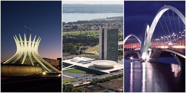 Catedral de Brasília, Congresso Nacional e Ponte JK | Fotos: divulgação