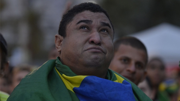 Brasileiros revivem derrota contra a Alemanha, na Copa do Mundo no Brasil | Foto: Tomaz Silva/ Agência Brasil
