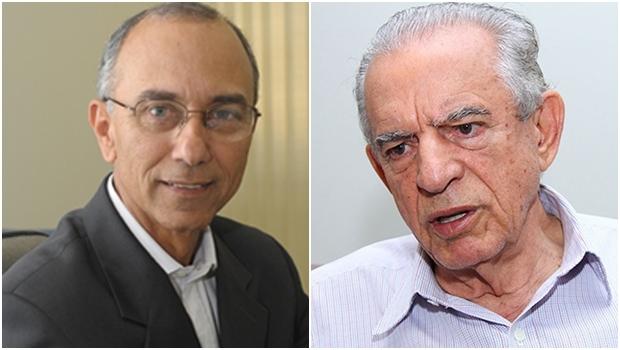 Na montagem, o ex-presidente da Ademi , Ilézio Inácio e o ex-prefeito Iris Rezende | Foto: Reprodução Twitter/Jornal Opção - Fernando Leite