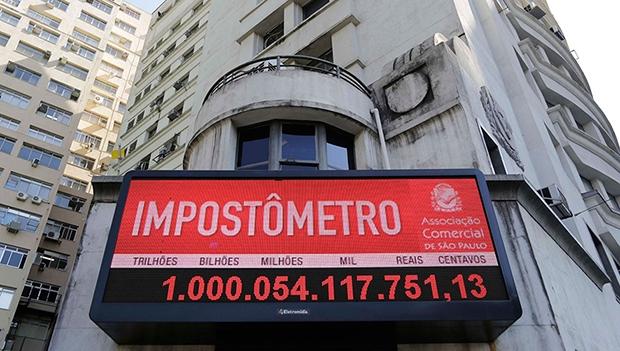 Impostômetro em São Paulo: marca de R$ 1 trilhão foi alcançada mais cedo este ano