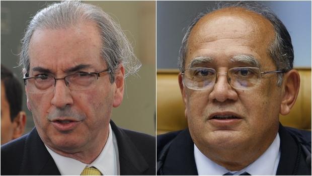Eduardo Cunha (esquerda) nega ter tratado sobre o assunto com o ministro do STF | Foto: Antonio Cruz/Agência Brasil; Nelson Jr./SCO/STF