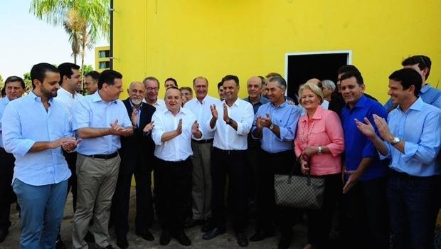 Lideranças tucanas comemoram filiação do governador Pedro Taques (PSDB-MT)