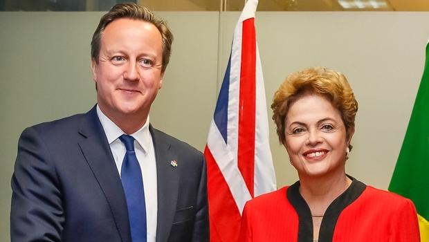 O primeiro-ministro do Reino Unido, David Cameron, e a presidente Dilma Rousseff   Foto: Roberto Stuckert Filho/PR