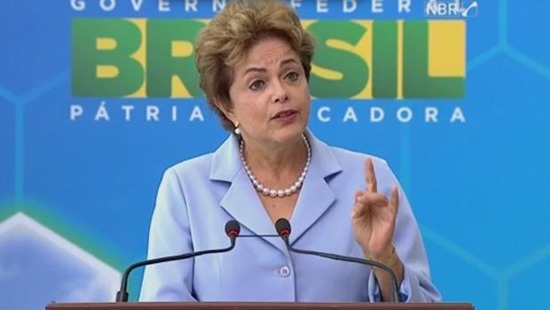 Presidente Dilma durante lançamento de plano | Foto: reprodução / NBR